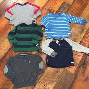 Baby Gap Long Sleeve Shirts-2T & Sweater 18-24mnth